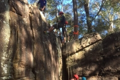 Abseiling at Lindfield Rocks