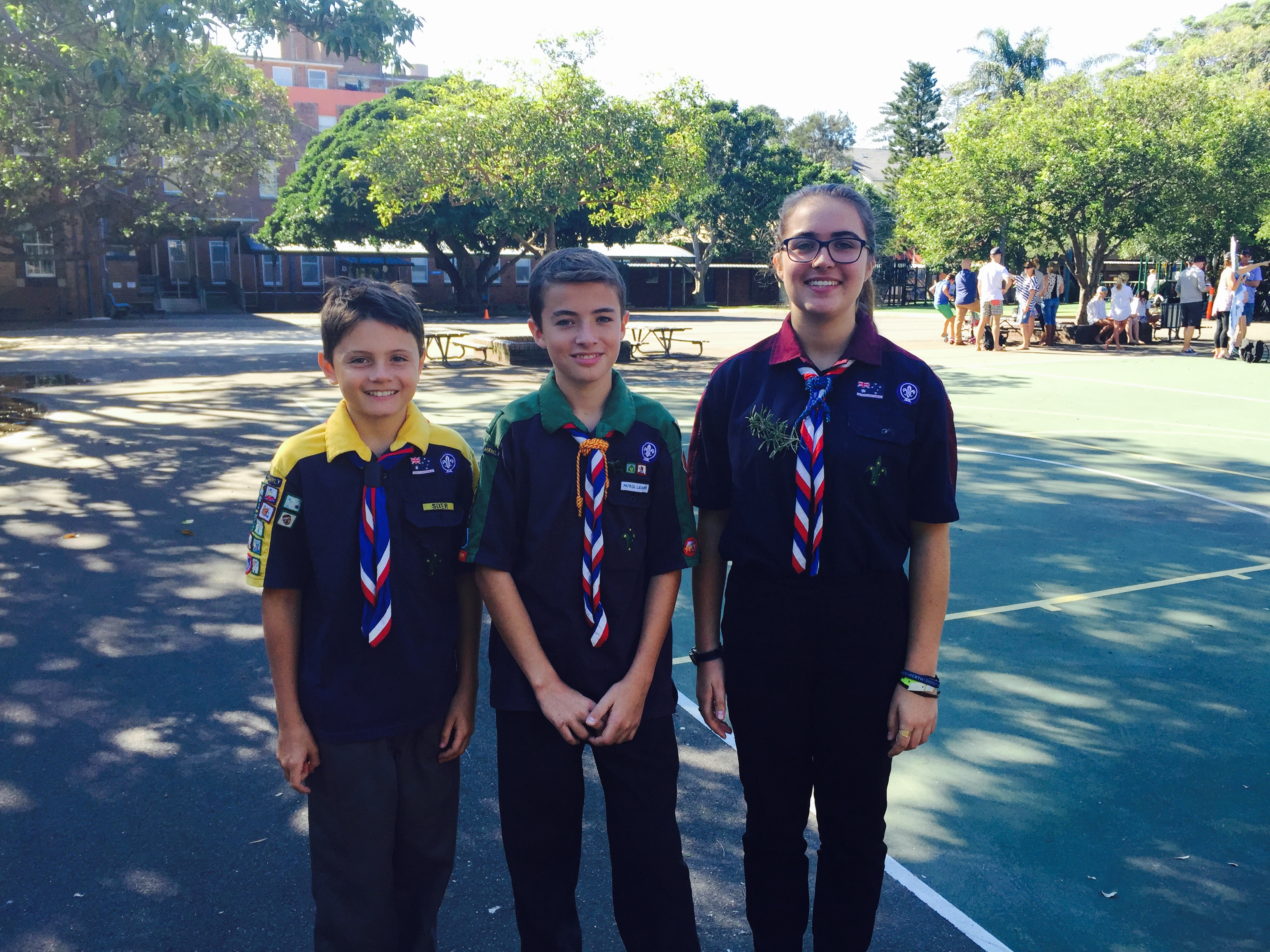 The three Sections - ANZAC Day 2015